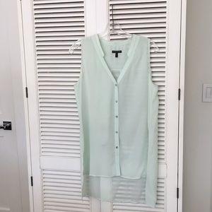 Eileen Fisher light green silk top